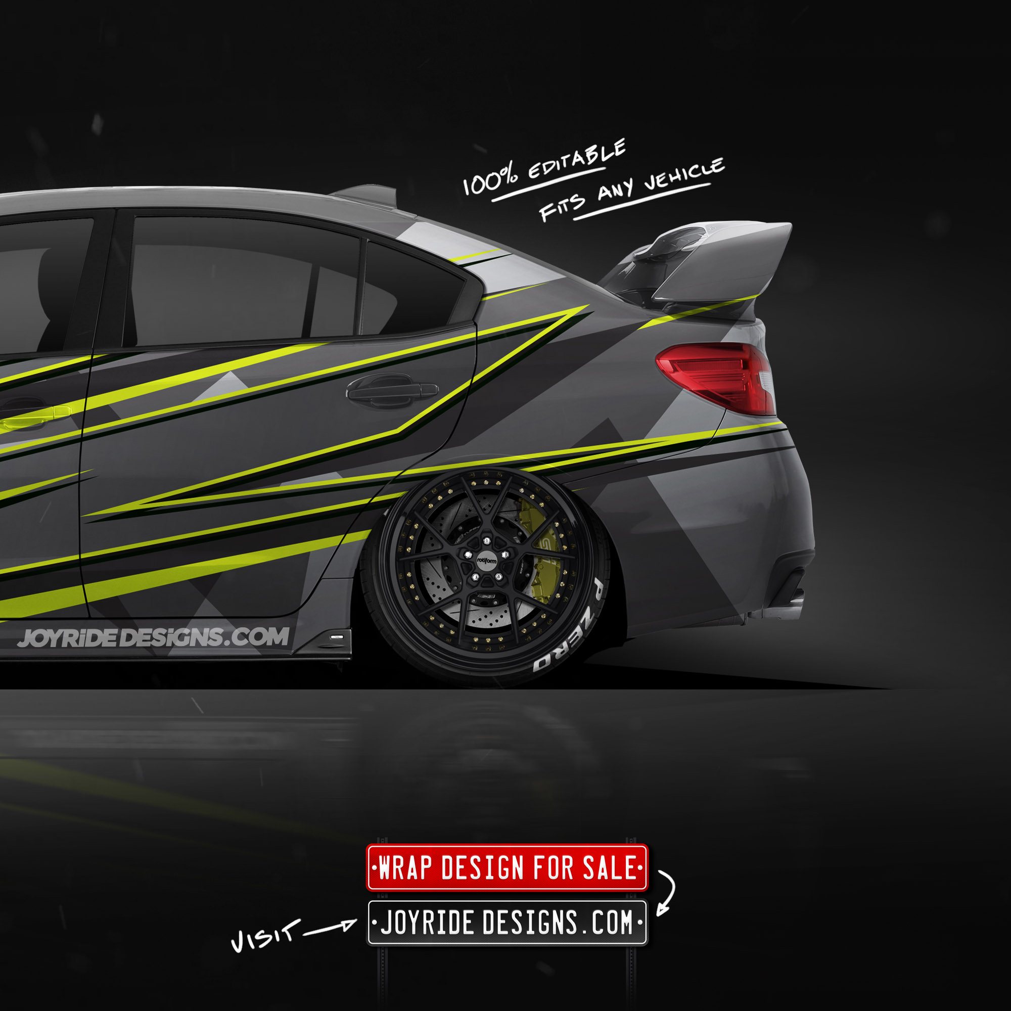2019 SUBARU STI BACK SIDE JOYRIDE WRAP DESIGN JD1