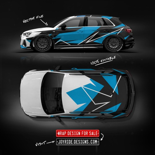 AUDI Q3 SIDE AND TOP JOYRIDE WRAP DESIGN JD3