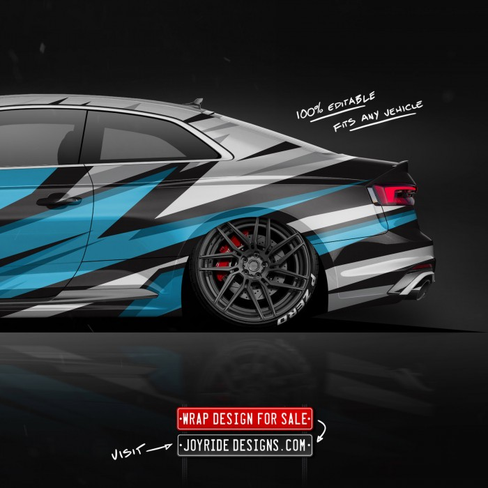 AUDI RS5 BACK SIDE JOYRIDE WRAP DESIGN JD2