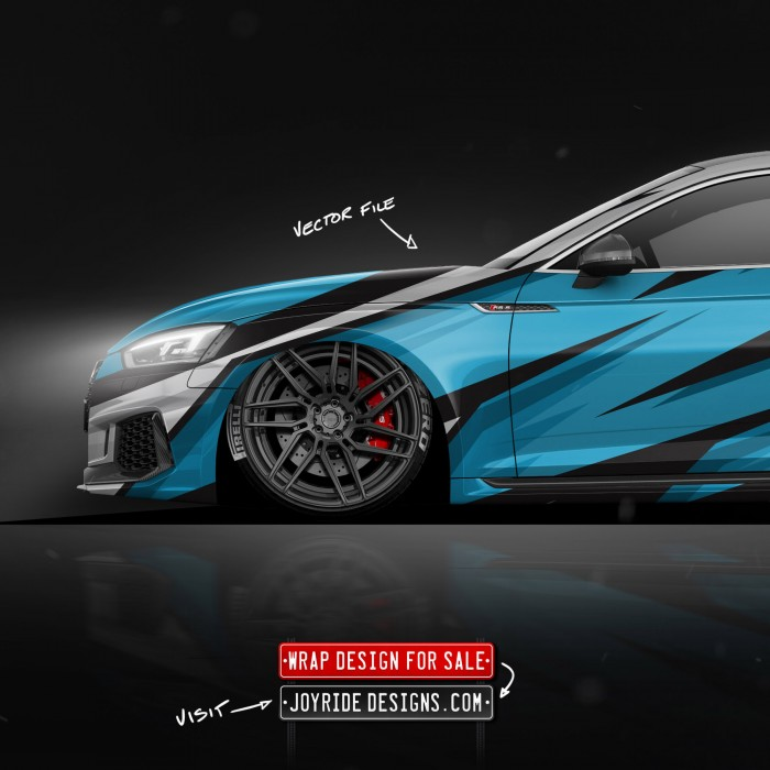 AUDI RS5 FRONT SIDE JOYRIDE WRAP DESIGN JD2