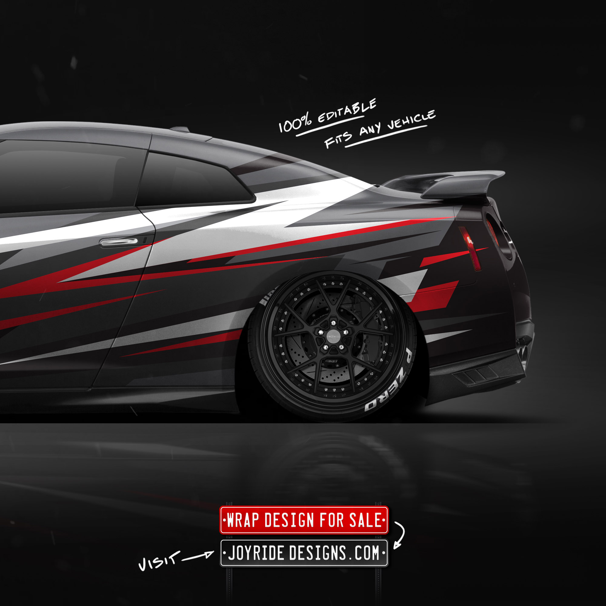 NISSAN GTR BACK SIDE JOYRIDE WRAP DESIGN JD4