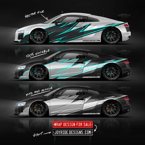 AUDI R8 SIDE JOYRIDE WRAP DESIGN JD7