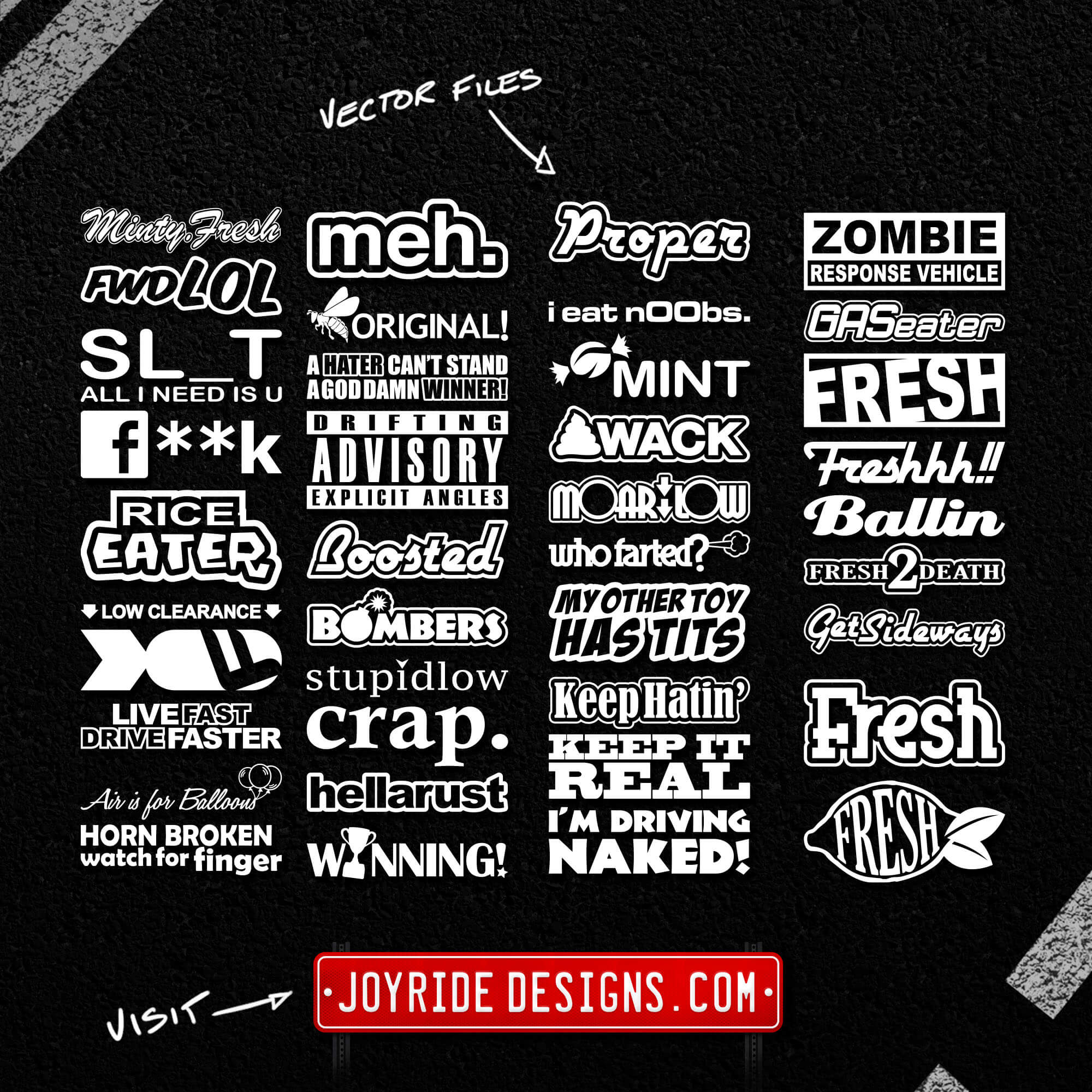 JOYRIDE DESIGNS VECTOR DECALS MEGA PACK 05