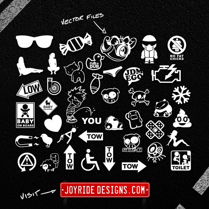 JOYRIDE DESIGNS VECTOR DECALS MEGA PACK 11