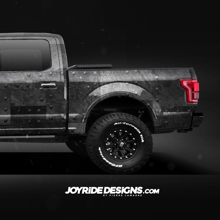 JOYRIDE STEEL PLATES WITH RIVETS TEXTURE FORD F150 BACK SIDE