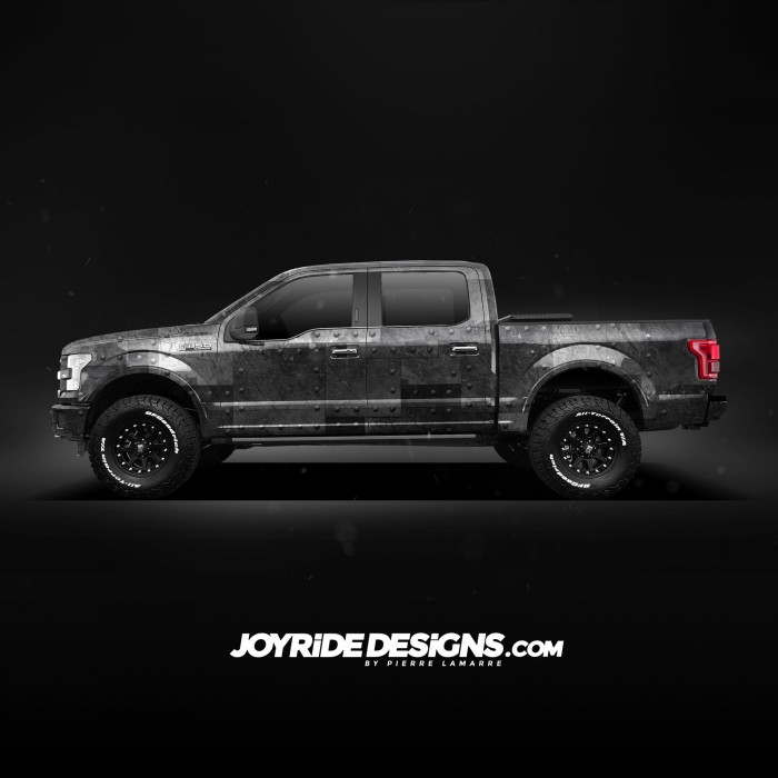 JOYRIDE STEEL PLATES WITH RIVETS TEXTURE FORD F150 FULL SIDE