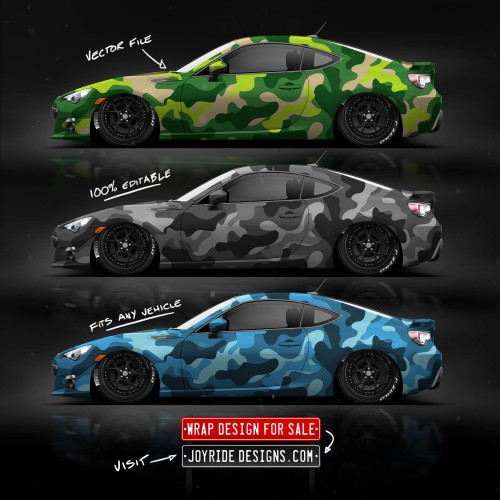 SUBARU BRZ JOYRIDE WRAP DESIGN CAMO SIDE JD6