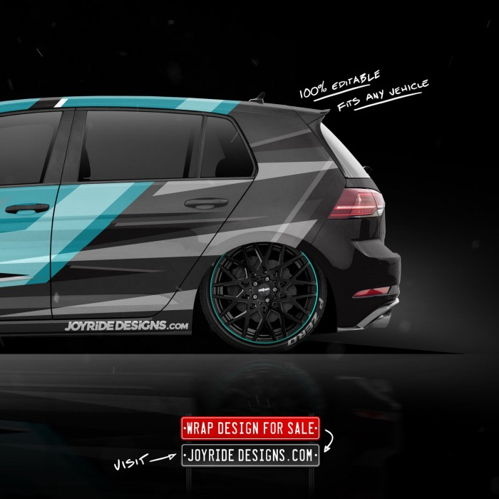 VW GOLF R JOYRIDE WRAP DESIGN BACK SIDE