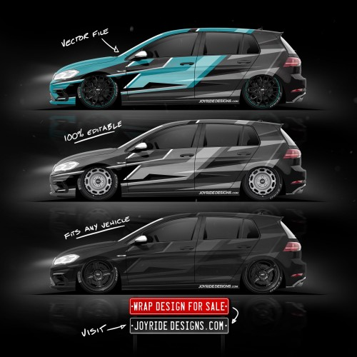 VW GOLF R JOYRIDE WRAP DESIGN SIDE