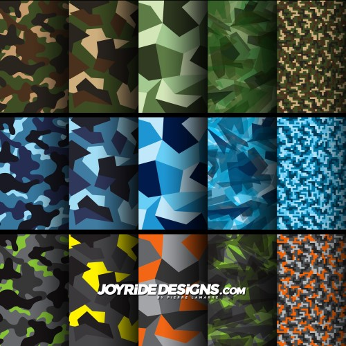 JOYRIDE CAMO VECTOR TEXTURES PACK JD-CT-PACK-01