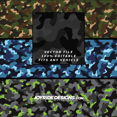 JOYRIDE CLASSIC MILITARY CAMO WRAP TEXTURE DESIGN JD-CT-01