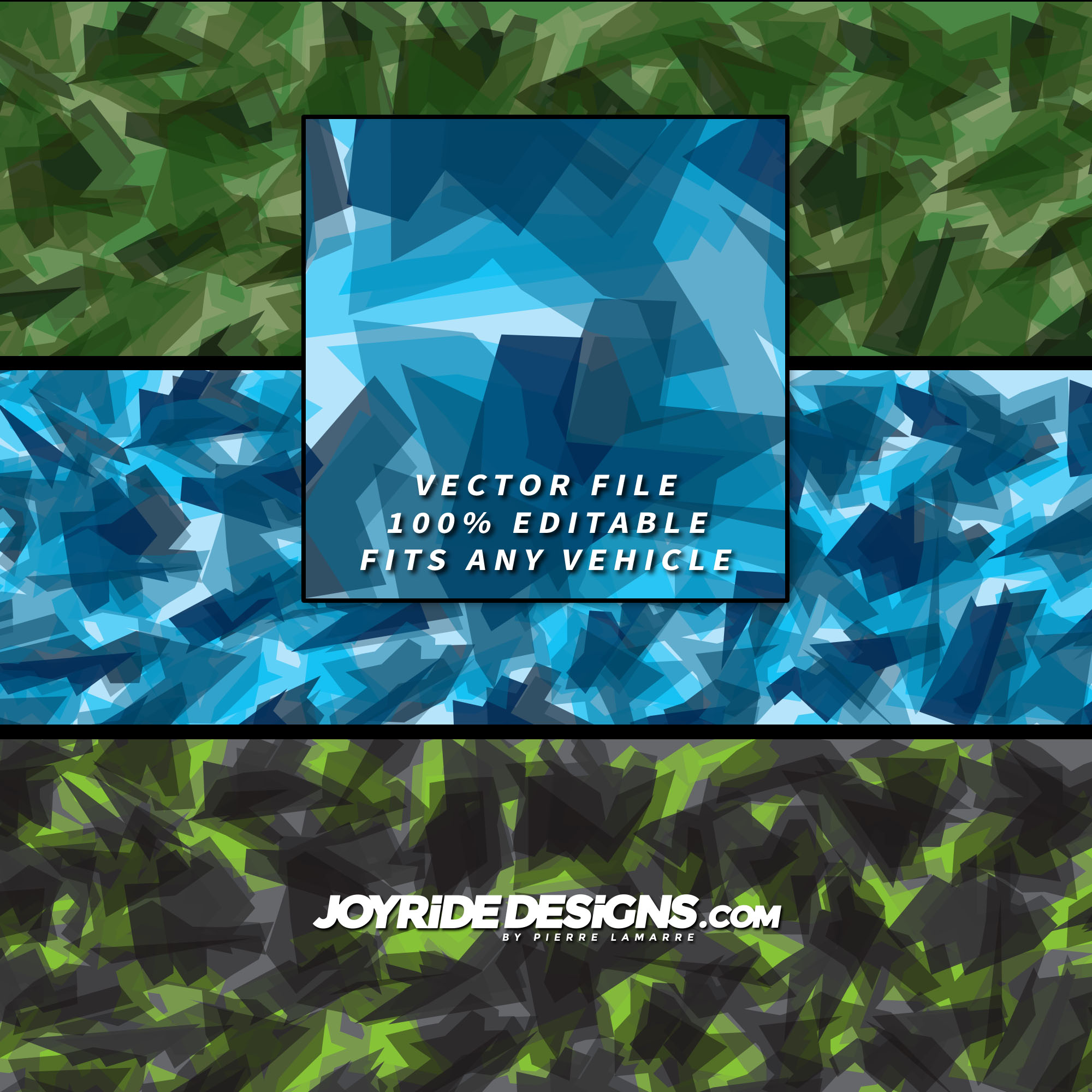 JOYRIDE MODERN ARCTIC CAMO WRAP TEXTURE DESIGN JD-CT-04