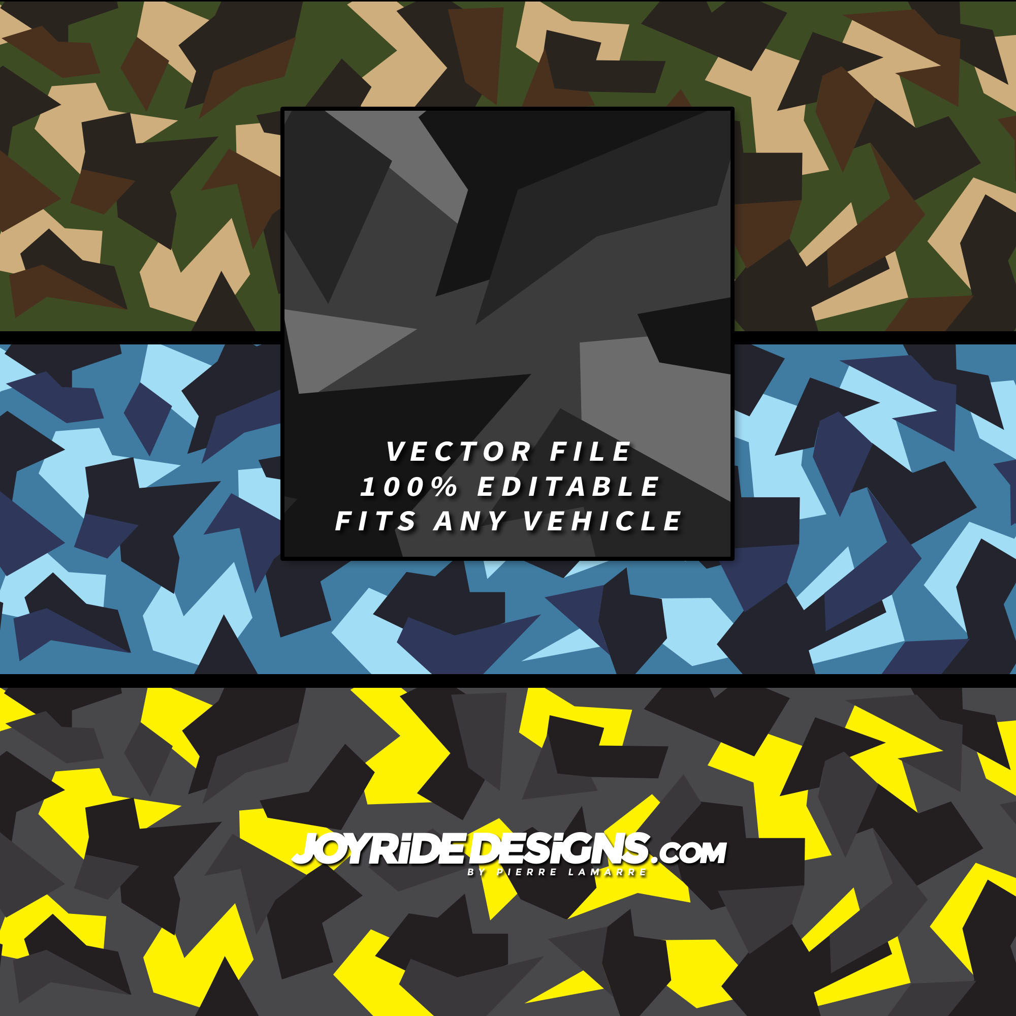 JOYRIDE MODERN MILITARY CAMO WRAP TEXTURE DESIGN JD-CT-02