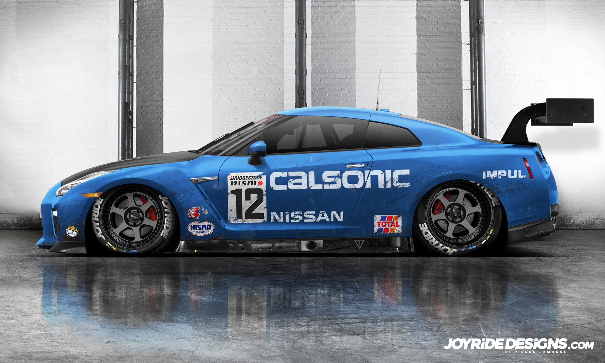 NISSAN R35 GTR NISMO RENDER CALSONIC LIVERY