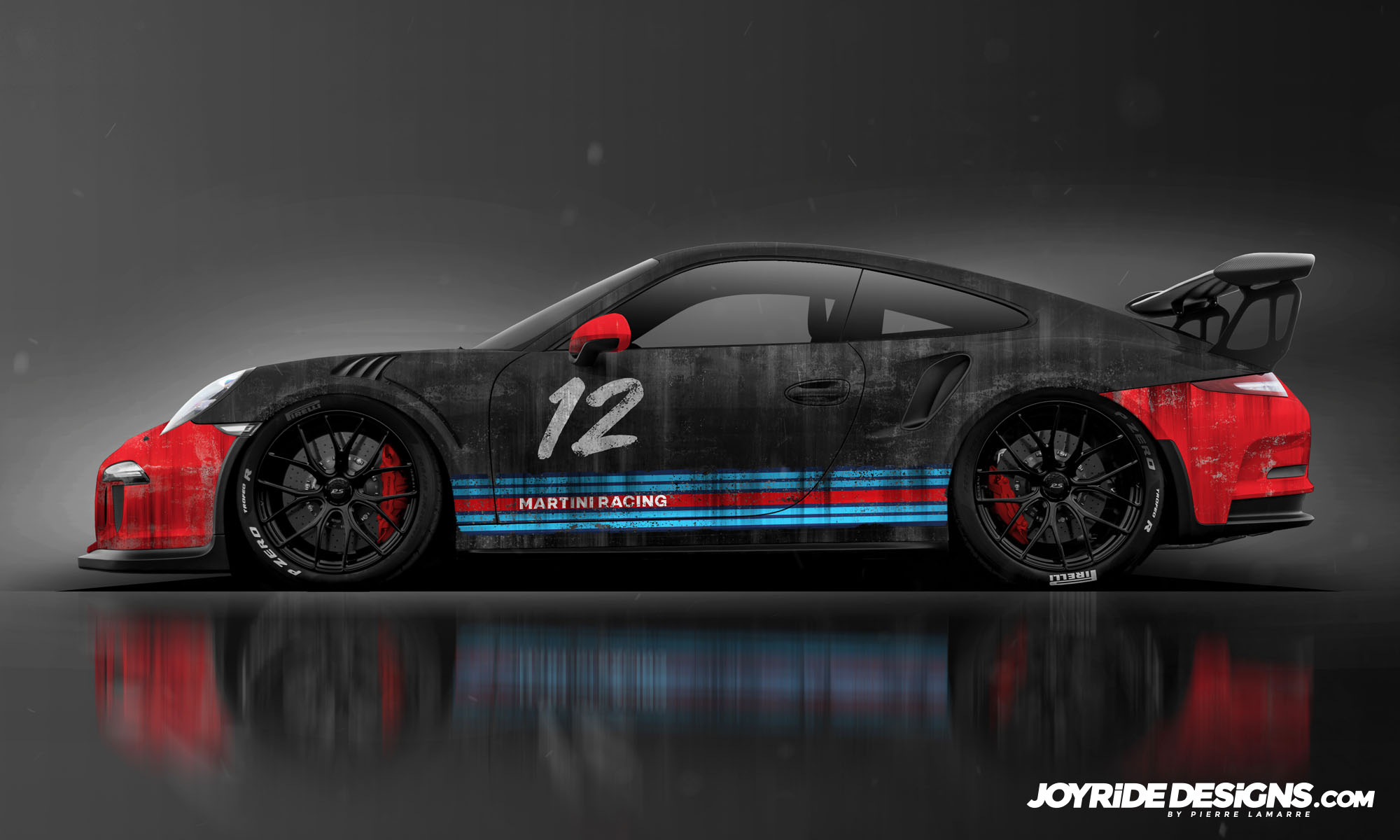PORSCHE GT3RS WEATHERED MARTINI RACING WRAP DESIGN SIDE