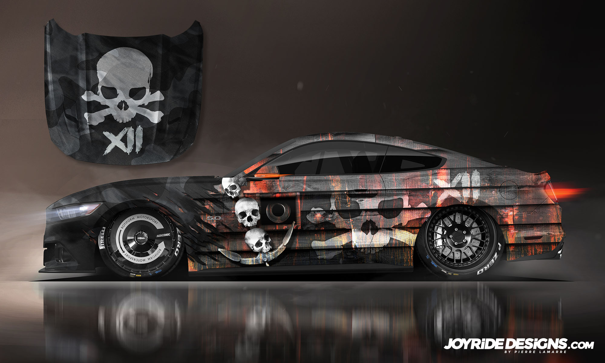 FORD MUSTANG PIRATE SHIP JOYRIDE WRAP DESIGN