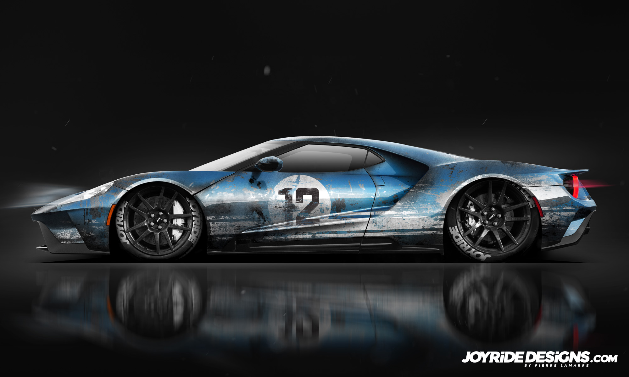FORD GT LEMANS GT40 TRIBUTE JOYRIDE WRAP DESIGN