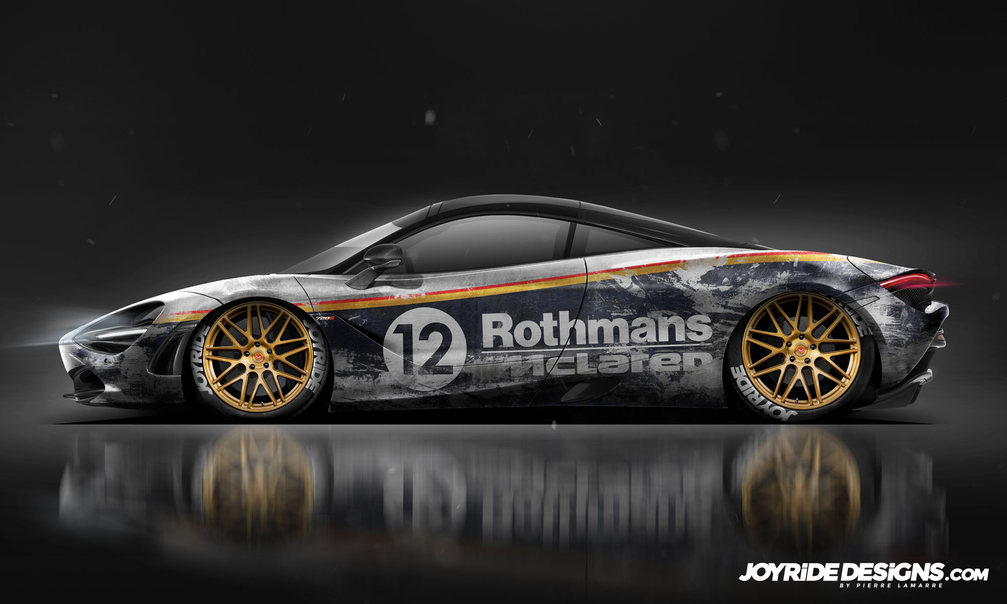 MCLAREN 720S ROTHMANS WEATHERED JOYRIDE WRAP DESIGN