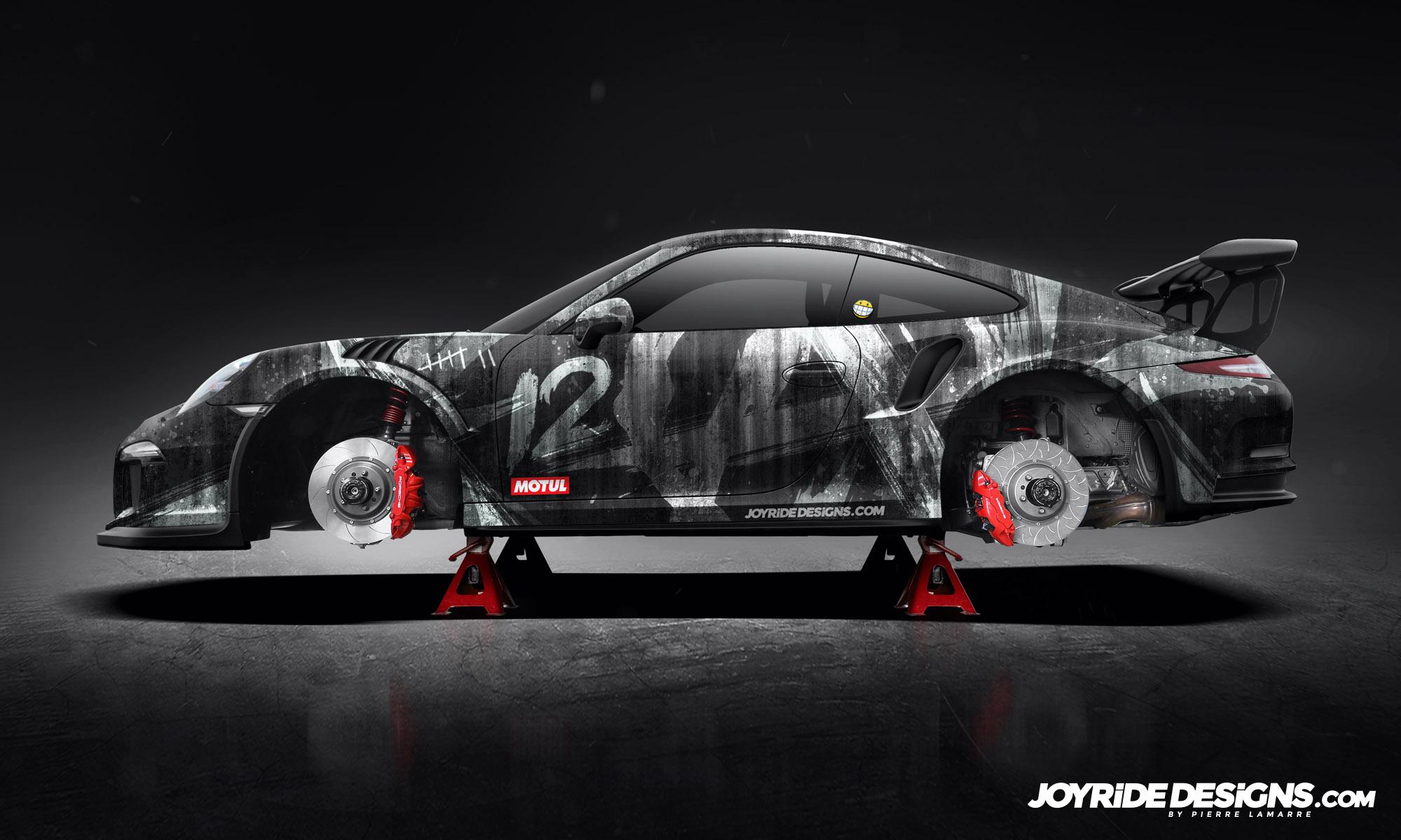 PORSCHE GT3RS ANARCHY JOYRIDE WRAP DESIGN
