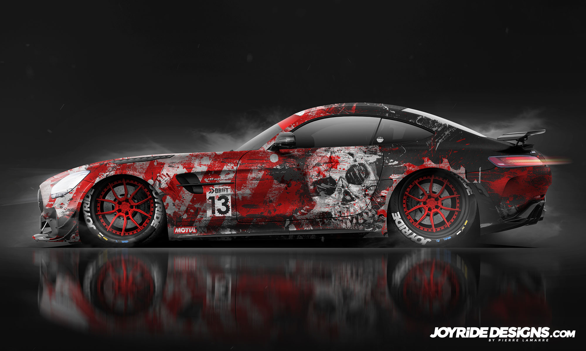 MERCEDES GT-R AMG FRIDAY 13TH JOYRIDE WRAP DESIGN