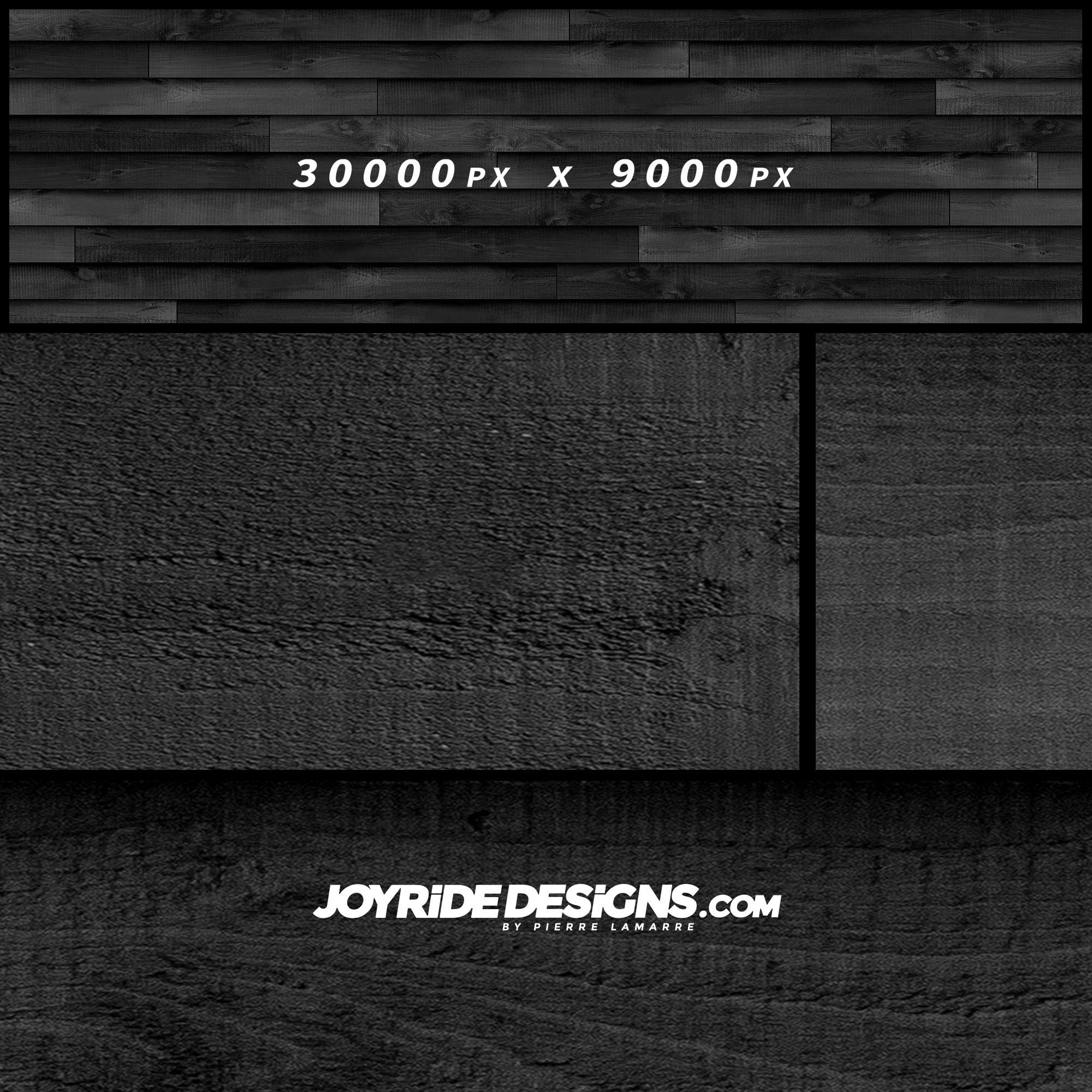 JOYRIDE BLACK WOOD TEXTURE WRAP DESIGN JDT-09