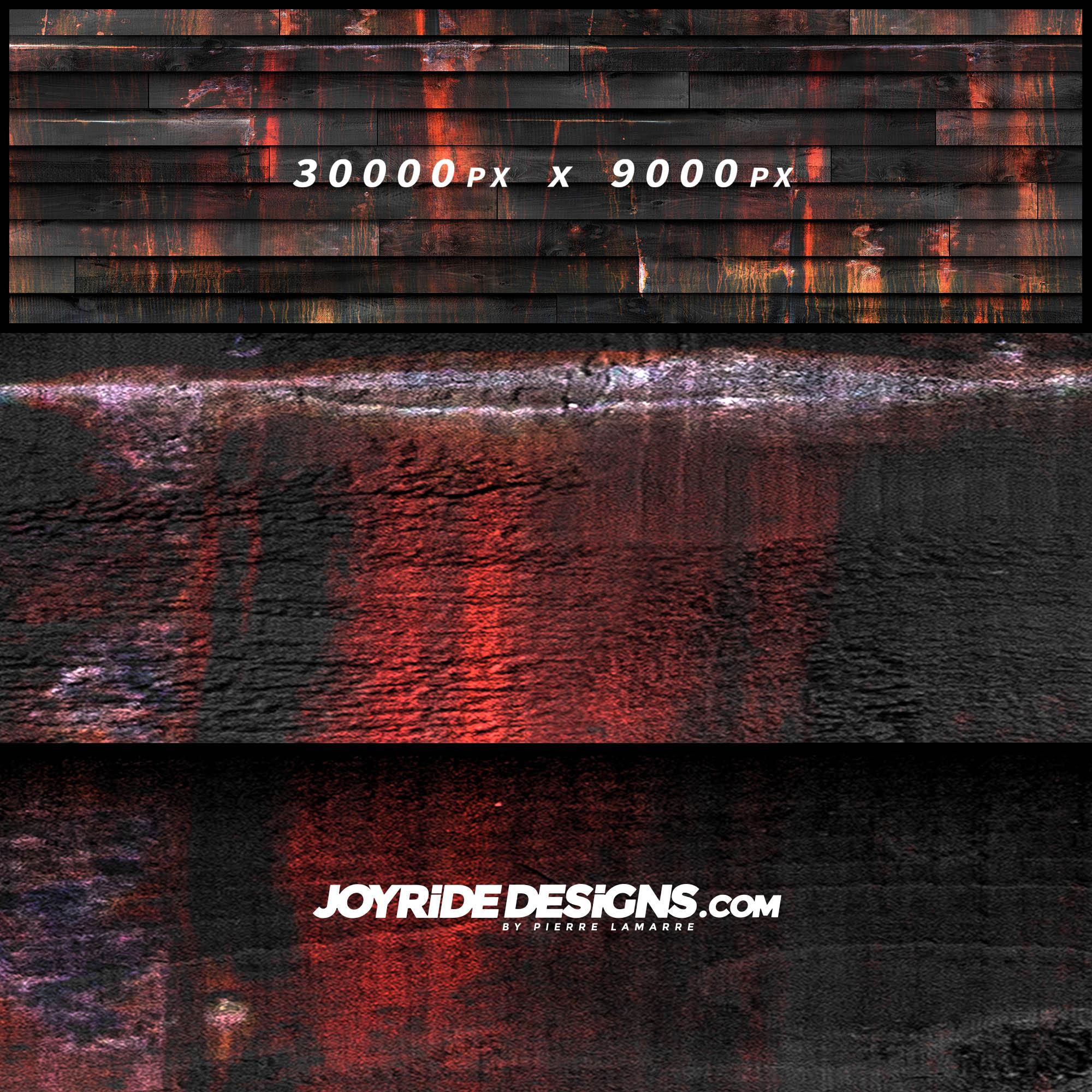 JOYRIDE PIRATE BLACK WOOD TEXTURE WRAP DESIGN JDT-10