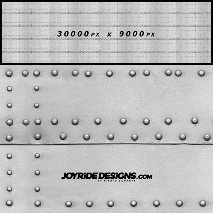 JOYRIDE METAL PANEL WITH RIVETS TEXTURE WRAP DESIGN JDT-04