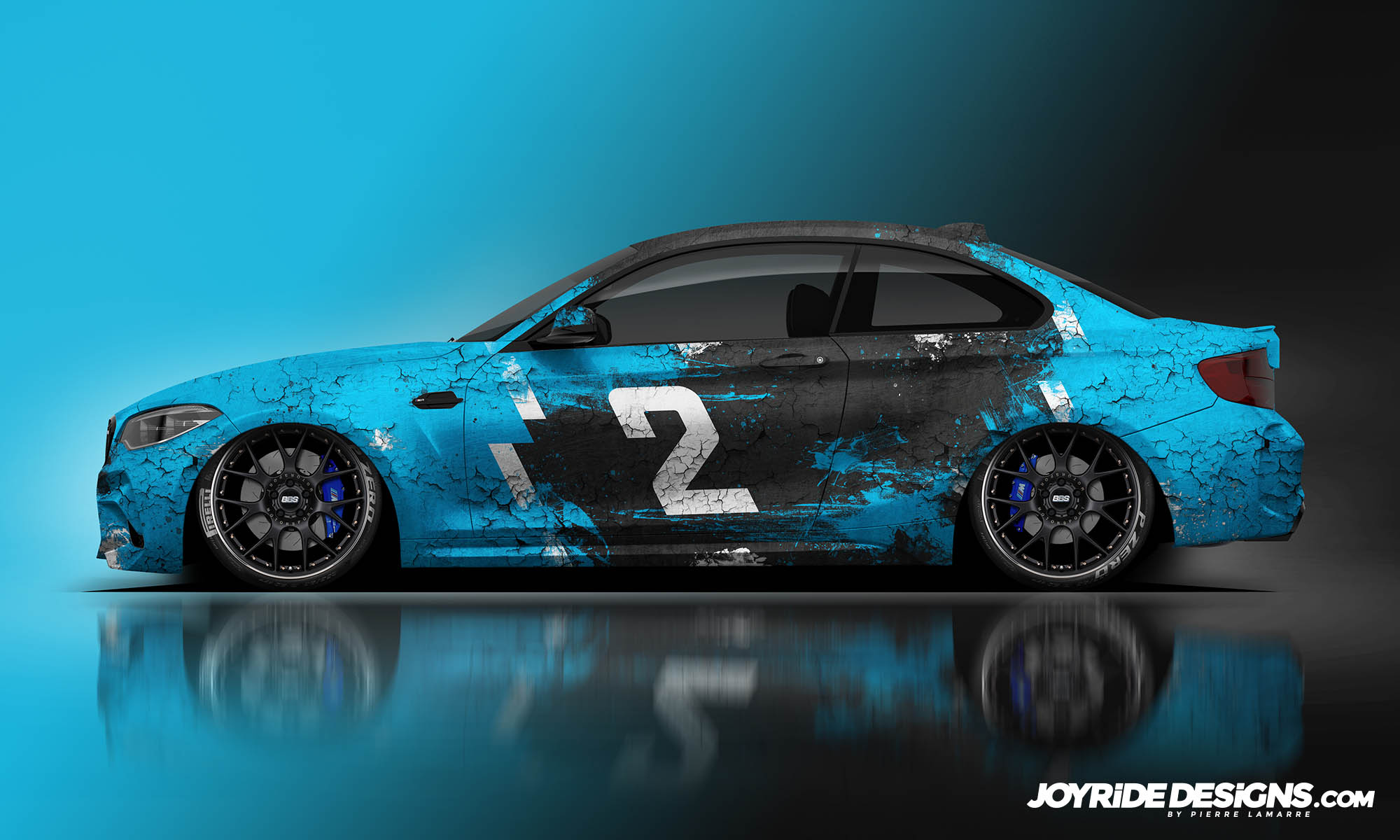 BMW M2 COMPETITION JOYRIDE WRAP DESIGN SIDE