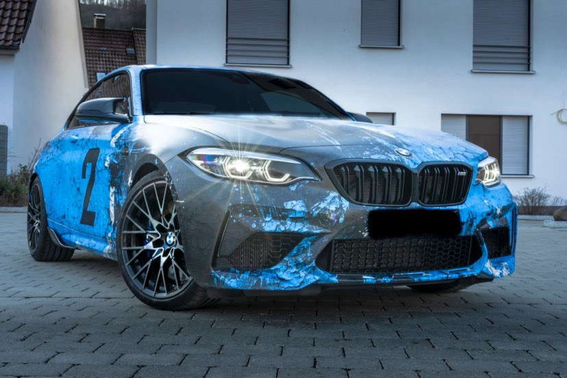 BMW M2 COMPETITION WEATHERED JOYRIDE WRAP DESIGN 1