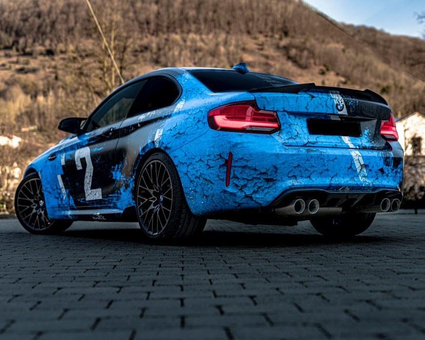 BMW M2 COMPETITION WEATHERED JOYRIDE WRAP DESIGN 3