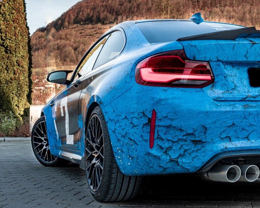 BMW M2 COMPETITION WEATHERED JOYRIDE WRAP DESIGN 4