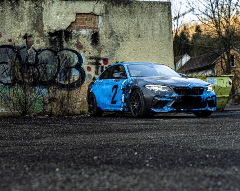 BMW M2 COMPETITION WEATHERED JOYRIDE WRAP DESIGN 5