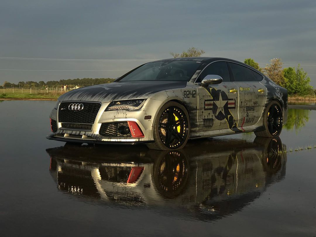 AUDI RS7 F-14 JOLLY ROGERS JOYRIDE WRAP DESIGN 1