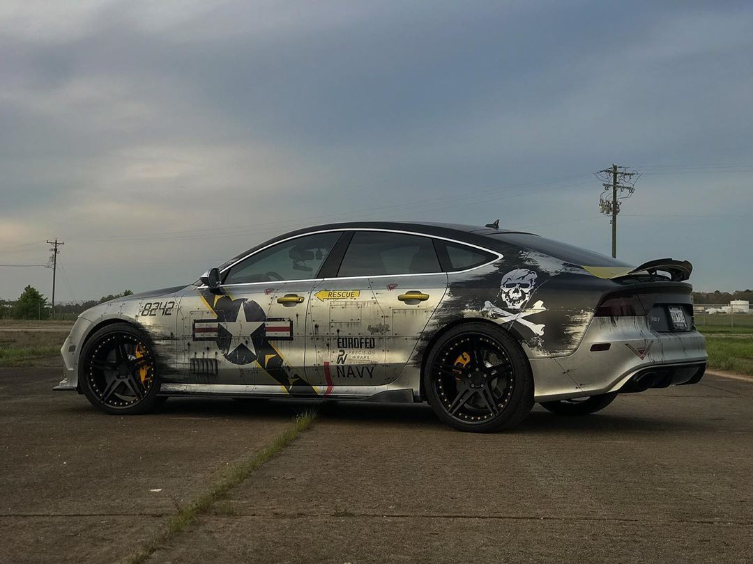 AUDI RS7 F-14 JOLLY ROGERS JOYRIDE WRAP DESIGN 2
