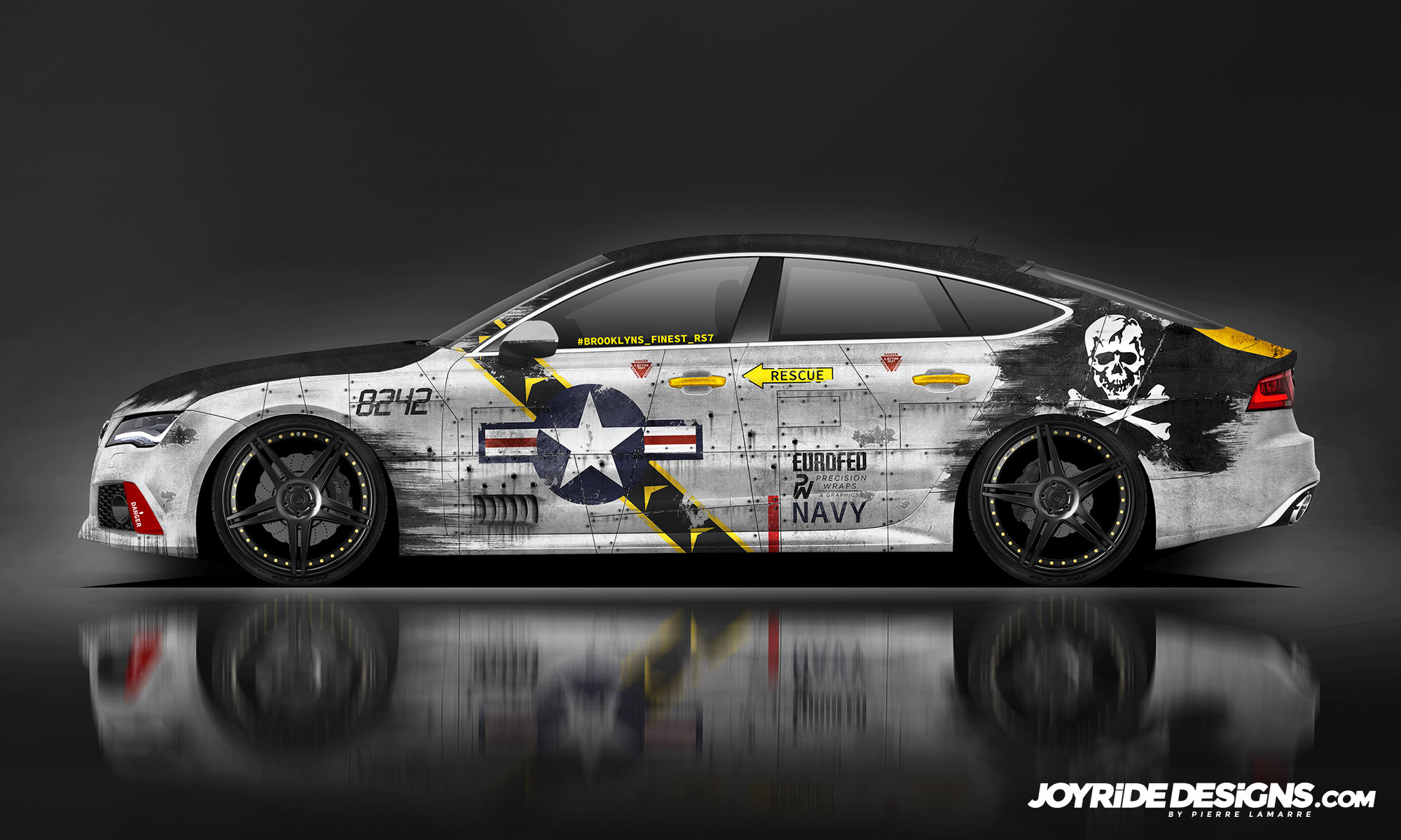 AUDI RS7 F-14 JOLLY ROGERS JOYRIDE WRAP DESIGN SIDE