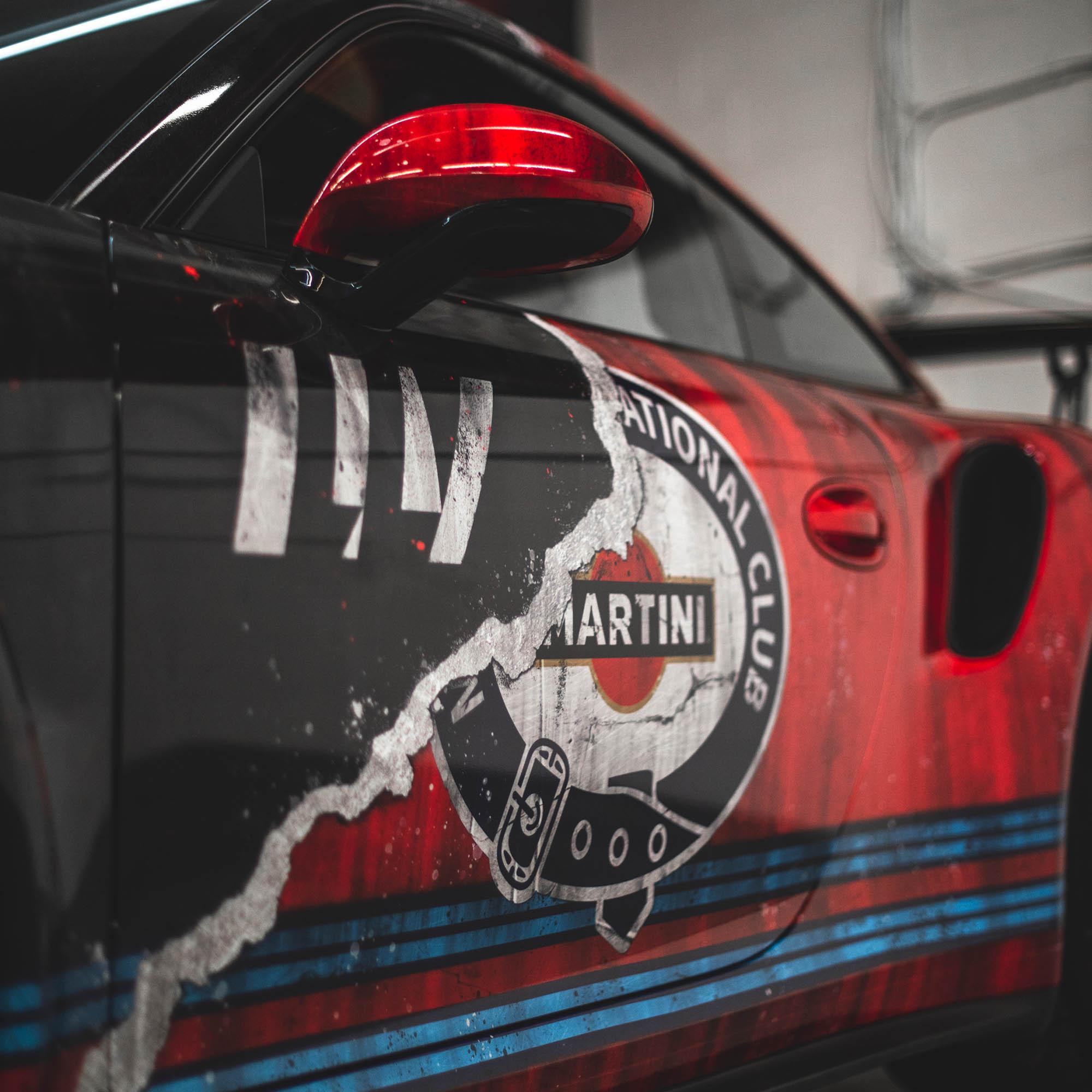 PORSCHE GT3RS LLV MARTINI RACING JOYRIDE WRAP DESIGN PHOTOSHOOT 3