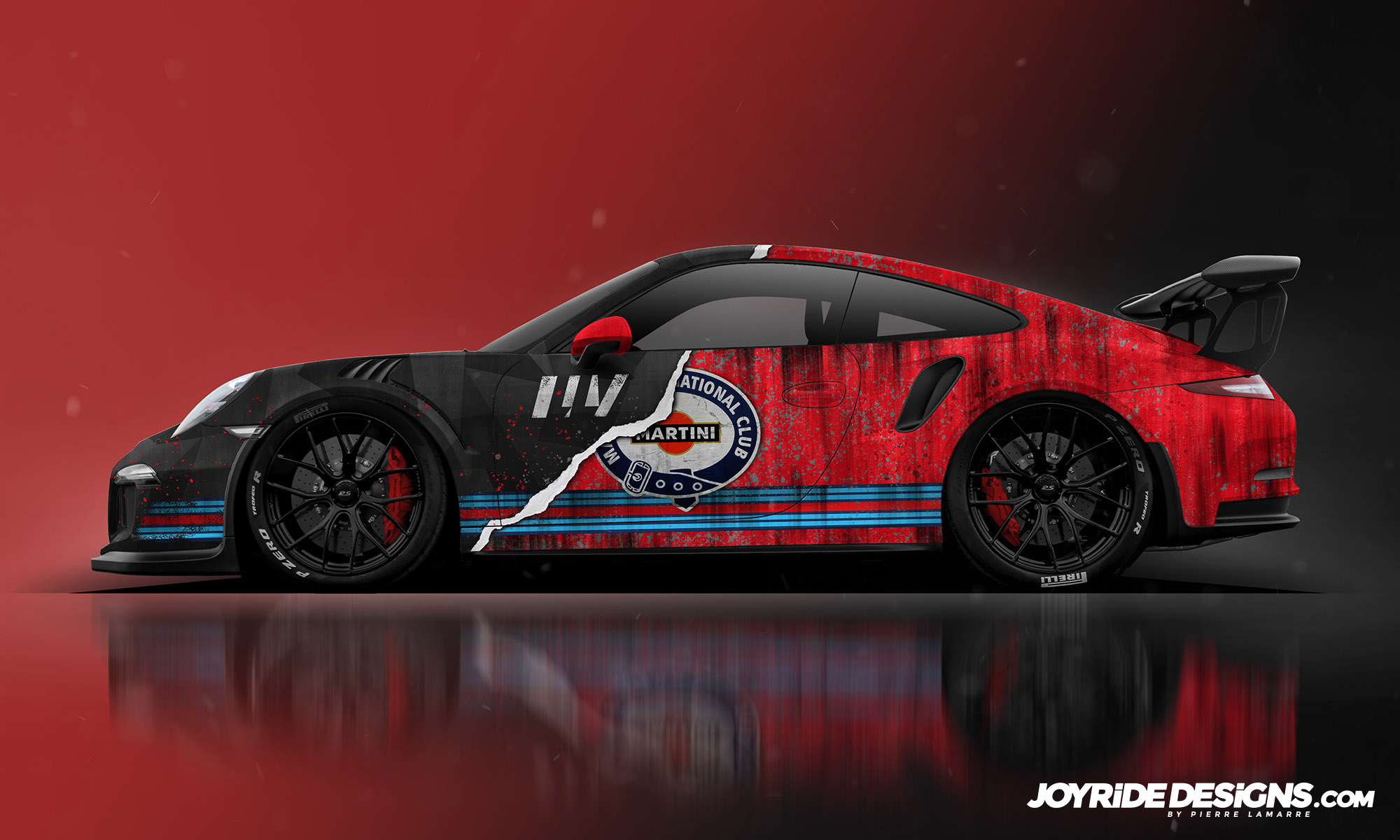PORSCHE GT3RS LLV MARTINI RACING JOYRIDE WRAP DESIGN SIDE