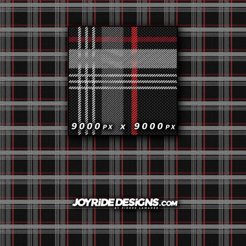 JOYRIDE GTI TARTAN CLARK FABRIC PATTERN TEXTURE WRAP DESIGN 60X60 JDT-25