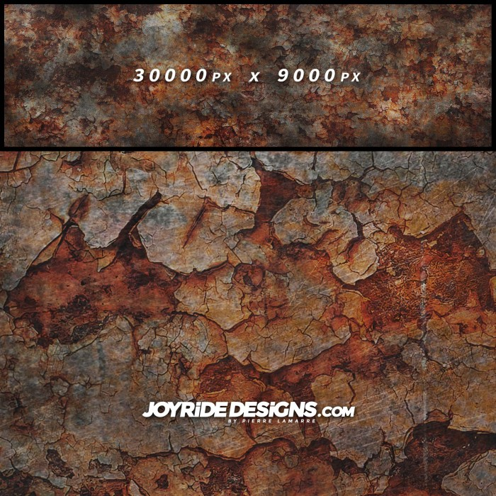 JOYRIDE HIGH RESOLUTION CRACKED RUSTED PATINA TEXTURE WRAP DESIGN JDT-16 60X200