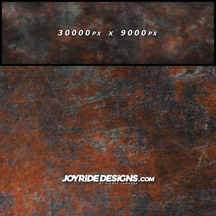 JOYRIDE HIGH RESOLUTION METAL RAT ROD RUSTED PATINA TEXTURE WRAP DESIGN JDT-19 60X200